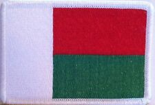 Madagascar Flag Patch With VELCRO® Brand Fastener Military White Border #7
