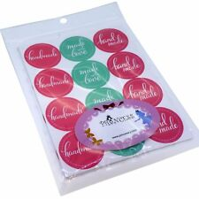 Handmade / Made with Love Round Sticker for Soap, Baking, Candle Gift Packaging