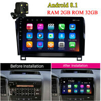 """10.1"""" Android 8.1 2+32GB Car Stereo Radio GPS Nav w/ Camera for TOYOTA Sequoia"""