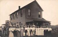 Zenobia Illinois~Ladies in Graduation Caps~General Store~Hold Babies~c1912 RPPC