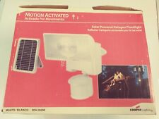 Cooper Lighting MSL180W Motion Activated Solar Floodlight new in box 79.99 tag