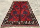 Authentic Hand Knotted Afghan Taimani Balouch Wool Area Rug 5 x 3 Ft (507 HMN)