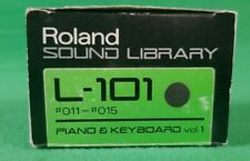 Roland Sampler Sound Disk Library L-101 Piano & Keybrd Vol 1,#11,#12, #13 & #14