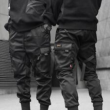 Men Hip Hop Harem Pants Cargo Trousers Street Black Jogger Sports Pencil Pants