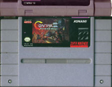 CONTRA III THE ALIEN WARS SNES SUPER NINTENDO GAME CLASSIC SYSTEM NES HQ