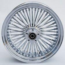 "Chrome Ultima 48 King Spoke 16"" x 3.5"" Rear Wheel for Harley and Custom Models"