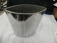 """Stylish Polished Aluminum 9"""" Vase New"""