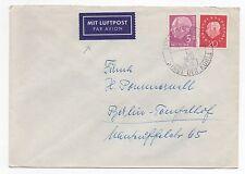 1961 GERMANY Air Mail Cover ESSEN To BERLIN TEMPELHOF SG1105 SG1221 Nitsch
