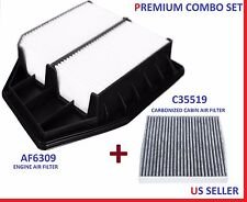 AF6309 C35519 Engine & CARBON Cabin Air Filter Combo for 08-12 Honda Accord 2.4L