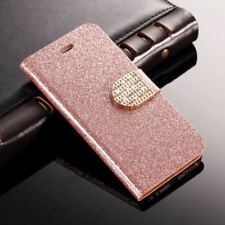 Case For Samsung Galaxy S6 Edge Bling Diamond Flip Wallet Glitter Leather Cover