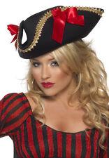 piratenschönheit Gorro Pirata negra-roja NUEVO - CARNAVAL Sombrero Gorro kopfbe
