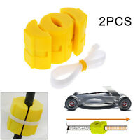 2Pcs Magnetic Fuel Saver for Vehicle Gas Universal Reduce Emission Yellow ABS
