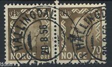 Norwegen 1955-57, NK 436 Paar Sohn SW Hovet ich Hallingdal 20-8-1956 (BU)