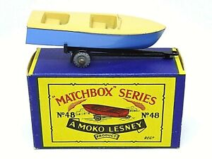 Matchbox Lesney No.48a Meteor Sportsman Mk.II And Trailer In B2 Series MOKO Box