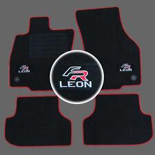 4 TAPIS SOL SEAT LEON 3 5F BERLINE BREAK 2012- MOQUETTE LOGO FR ROUGE SPECIFIQUE