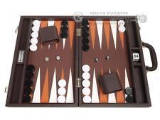 16-inch Premium Backgammon Set - Dark Brown Board, Backgammon Games