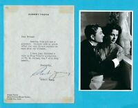 Robert Young Autographed Signed Letter Circa 1940 w/ B&W Pic w/ Hedy Lamarr