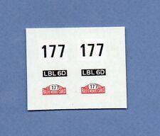 CORGI TOYS 308 339 : MINI COOPER S MONTE CARLO transfert / transfer decalques