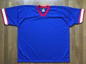 vtg BLANK Buffalo Bills JERSEY 90s Logo Athletic new kelly thomas jacket sz XXL