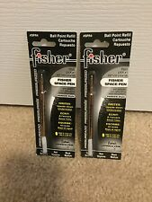 2 Pack Fisher Space Ball Point Pen Refills - Black - Medium Point - SPR4 / PR4