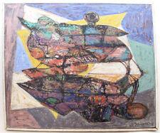 Abstrakte künstlerische Malerein mit Öl-Technik von 1900-1949