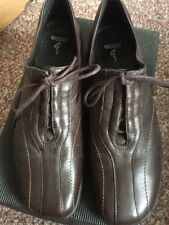 ECCO TWIST Chester Coffee LEATHER  SHOES LADIES US 10 med EURO 41 Used