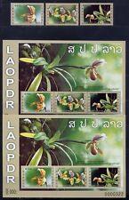 Laos 2011 Orchideen Orchids Blumen Flowers  2203-2205 Block 231 A und B MNH
