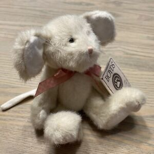 """Boyds Bears RICOTTA Q MOUSELY #525011 2005 6"""" Plush Mouse/Pink Bow 🐭🧀 CUTE!"""