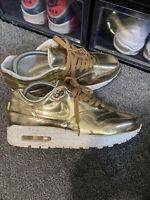Nike Air Max 1 SP Liquid Metal Gold Mens Size 7 RARE 635786-770 Patta Atmos