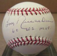 Bobby Richardson 60 WS MVP Signed ML Baseball - PSA DNA