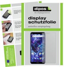 6x Nokia 5.1 Plus Protector de Pantalla protectores mate dipos