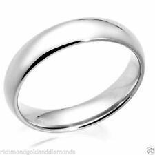 CLEARANCE SALE Real 10k White Gold 5mm Size 7 Plain Fit Wedding Band Ring 5 MM