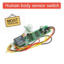 Dc12v Human Body Sensor PIR IR Pyroelectric Infrared Module Adjust Relay Output