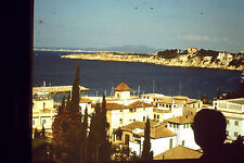 Vintage Slide Negative : Appartment Buildings, Sea View, Possibly In Greece