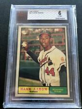 Hank Aaron 1961 Topps #415 BVG 6 EX-MT Milwaukee Brewers GCJ