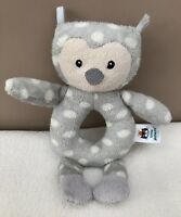 Little Jellycat Ollie Owl Baby Grabber Ring Rattle Baby Soft Toy Spots Comforter
