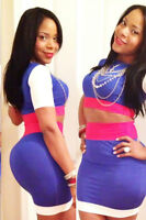 HOT PINK SKIRT CROP TOP SET CELEB STYLE BODYCON TOWIE DRESS ..VARIOUS SIZES
