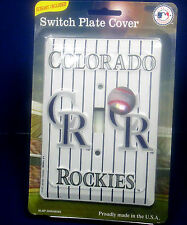 Major League Baseball MLB Colorado Rockies single switch electric light switch