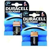 2 x DURACELL ULTRA 9v BLOCK  PP3 Alkaline BATTERIES