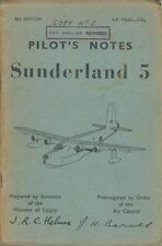 SHORT SUNDERLAND FLYING BOAT MANUAL Mark V 5 MR.5 RAF RAAF historic archive
