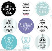Boda Personalizada Adhesivo Etiquetas | Sr. & Sra. | elección Ur Tamaño Color & Design