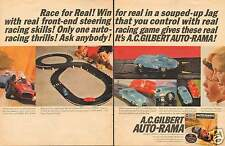 1964 AC Gilbert Auto-Rama Slot Car Jaguar XKE 2 Page LARGE Print Ad