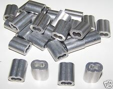 """1/8"""" Aluminum Cable Crimps/Sleeves (Lot Of 100) New"""