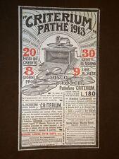 Pubblicità del 1913 Grammofono Pathè Criterium 1913