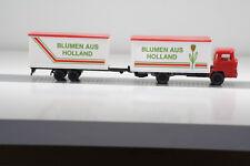 Magirus 100 D 7 Lastzug mit Tandemanhänger von Blumen aus Holland(Wiking/L 825-6
