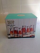 Anna Gare 6 Drinking Bottles With Straws New