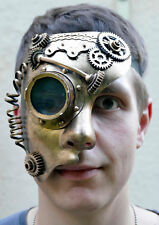 maske.augenmaske,steampunk,halbmaske,goldfarben,fantasy,sci-fi,retro