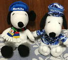 "MetLife Peanuts Snoopy 6"" Plush Lot of 2 Blue Camo 2011 & Winter Olympics 2014"