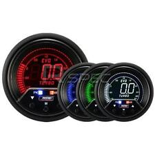 Prosport Evo 60mm LCD 3 Bar Boost Gauge 4 colour with peak and warning