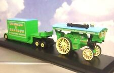 CORGI/ATLAS 1/76 BURRELL SHOWMANS ENGINE & DRAWBAR TRAILER EMERSON & HAZARDS 105